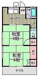川端荘[203号室]の間取り