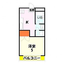 ノーブレス21[103号室]の間取り