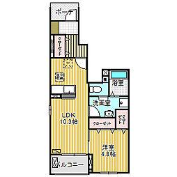 愛知県名古屋市港区明正1の賃貸アパートの間取り
