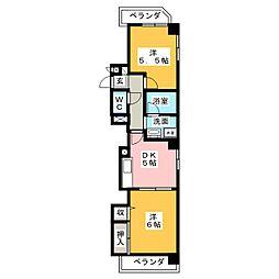 第2宏和ビル[6階]の間取り