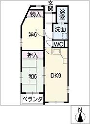 グランヴィ城木[1階]の間取り