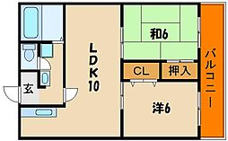 第2藤井マンション[3階]の間取り