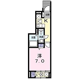 東京都西東京市中町5丁目の賃貸アパートの間取り