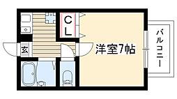 愛知県名古屋市名東区一社2丁目の賃貸アパートの間取り