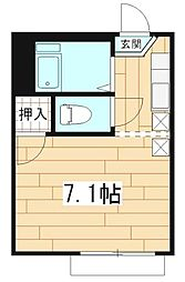 神奈川県相模原市中央区淵野辺2丁目の賃貸アパートの間取り
