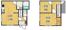 [一戸建] 福岡県北九州市戸畑区天籟寺2丁目 の賃貸【/】の間取り