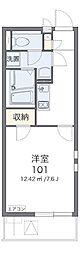 JR青梅線 小作駅 徒歩20分の賃貸マンション 2階1Kの間取り