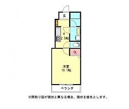 愛知県一宮市高畑町2丁目の賃貸アパートの間取り