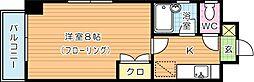 福岡県北九州市八幡東区尾倉2丁目の賃貸マンションの間取り