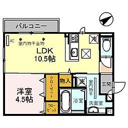 (仮)D-room四十万町[105号室]の間取り