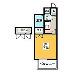 エステートモア博多グラン[14階]の間取り
