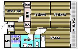 ソルジェンテ金剛[2階]の間取り