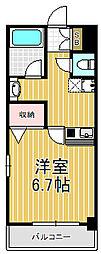 ジュネーゼグラン南堀江[8階]の間取り