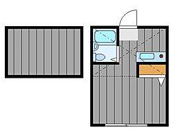ハーミットクラブハウス鶴ヶ峰A[1階]の間取り