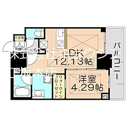 Osaka Metro御堂筋線 江坂駅 徒歩5分の賃貸マンション 8階1LDKの間取り