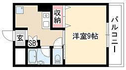 愛知県日進市浅田平子1丁目の賃貸マンションの間取り