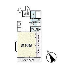 エバーグリーン 1階[104号室]の間取り
