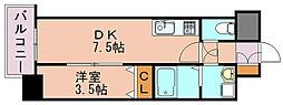 イクシオン美野島[5階]の間取り