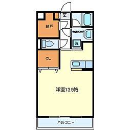 エール19[1階]の間取り