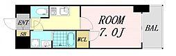 S-RESIDENCE西天満GrandJour 15階1Kの間取り