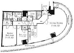パークコート青山ザタワー[2階]の間取り