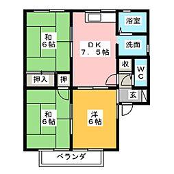 セジュール矢崎[2階]の間取り