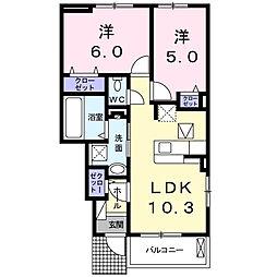 MARU B[1階]の間取り