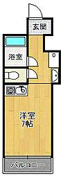 新甲子園マンション[4階]の間取り