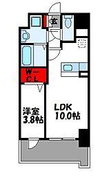 JR篠栗線 柚須駅 徒歩24分の賃貸マンション 5階1LDKの間取り