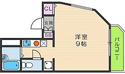 大阪府大阪市生野区生野西4丁目の賃貸マンションの間取り