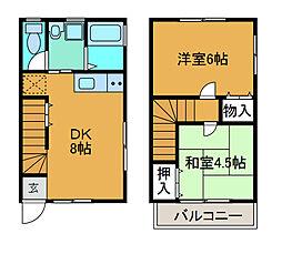 [テラスハウス] 神奈川県相模原市南区上鶴間7丁目 の賃貸【神奈川県 / 相模原市南区】の間取り