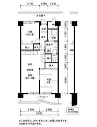 南港しらなみ34棟[4階]の間取り