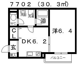 FStyle上田(エフスタイル上田)[302号室号室]の間取り
