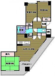 パークコート貴望ヶ丘[9階]の間取り