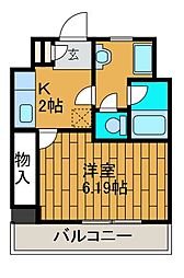 ブルックゲートハウス[3階]の間取り
