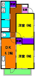 静岡県浜松市南区大柳町の賃貸アパートの間取り