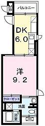 都営浅草線 戸越駅 徒歩2分の賃貸マンション 4階1DKの間取り