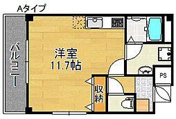 パナアルパート[3階]の間取り