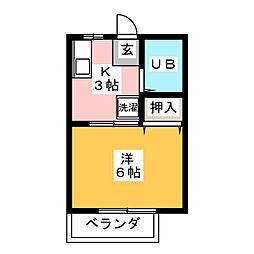 エルレープ・ミズホ[2階]の間取り