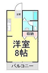 西之浦サンプラザ[1階]の間取り