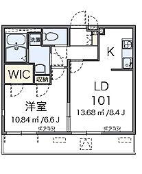 東京都大田区新蒲田3丁目の賃貸アパートの間取り