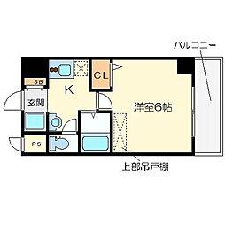 ラナップスクエア大阪城西[3階]の間取り