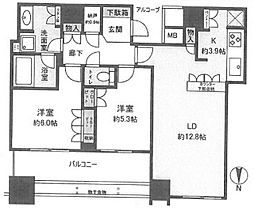 大阪府大阪市中央区北浜東の賃貸マンションの間取り