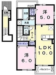 Elcasa A[2階]の間取り