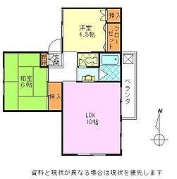桜ヶ丘マンションA棟[23号室]の間取り