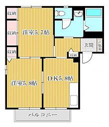ディアスKIII[101号室]の間取り