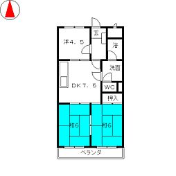 白砂ヒルズ[4階]の間取り