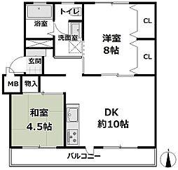青葉ハイツ12号棟[3階]の間取り