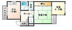 広島県呉市晴海町の賃貸マンションの間取り