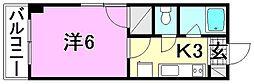 ボナール一番館[301 号室号室]の間取り
